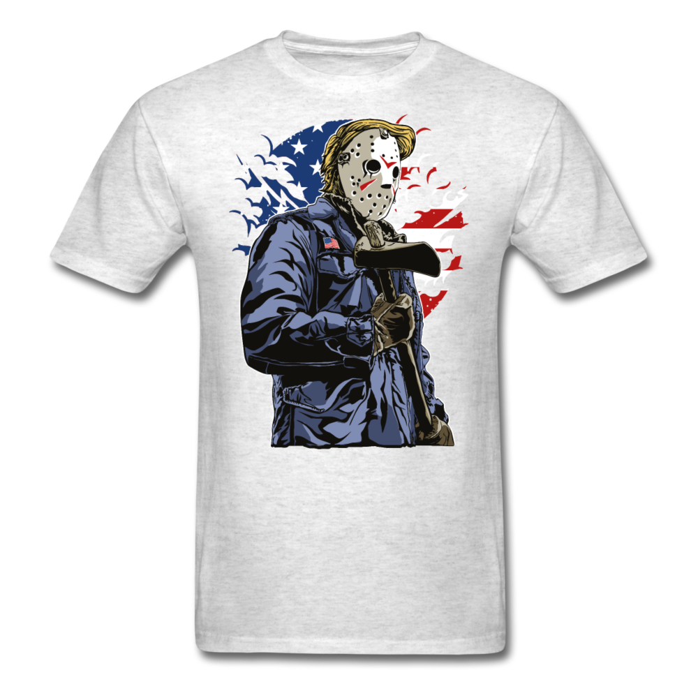 Trump Killer Tee - light heather grey