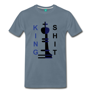 King Shit Tee - steel blue