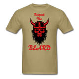 The Beard Tee - khaki
