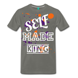 Self Made Tee. - asphalt