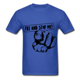 Stop Me Tee - royal blue