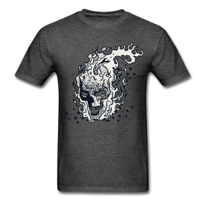 Sparkle Skull Tee - heather black