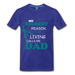 Reason for living Tee - royal blue