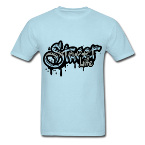 Street Tee - powder blue