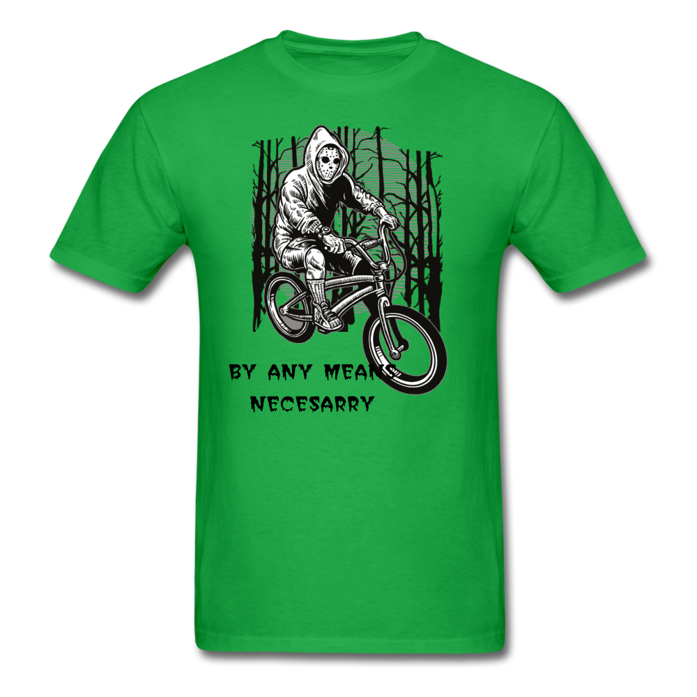 By Any Means Tee - bright green