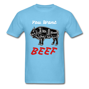 Beef Tee - aquatic blue