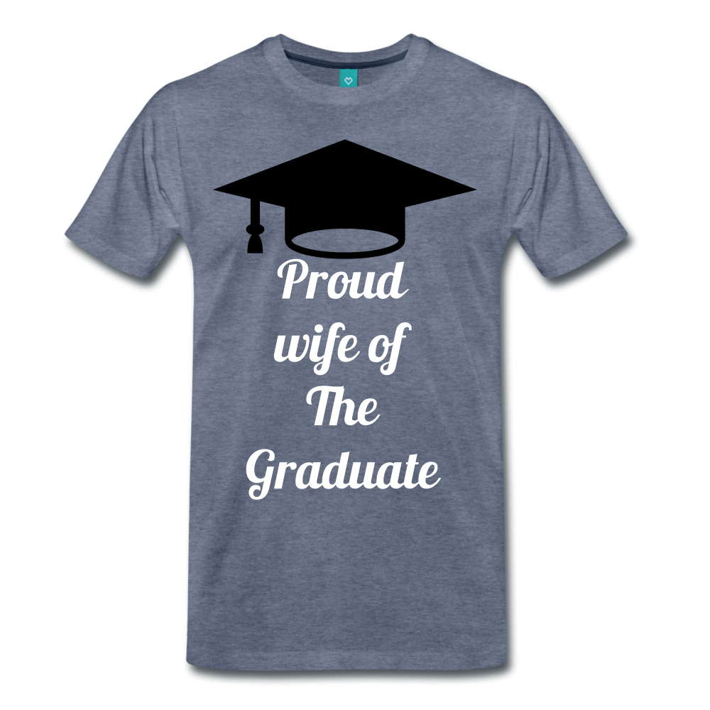 wife of grad tee - heather blue