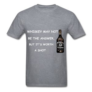 Whiskey Tee - mineral charcoal gray