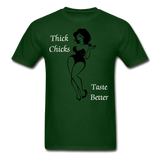 Thick Chicks Tee - forest green