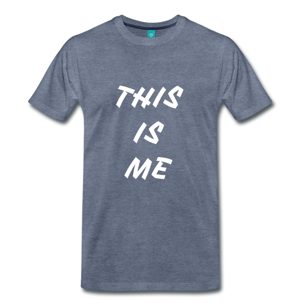 This is me Tee - heather blue