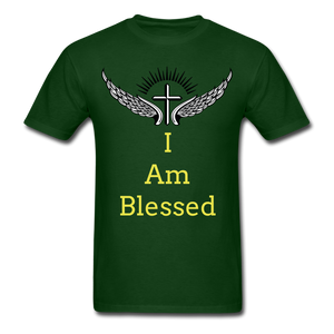 I Am Blessed Tee - forest green