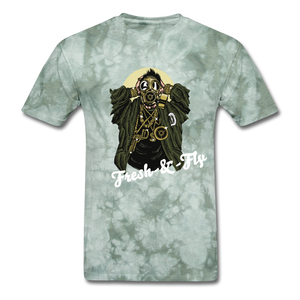 Fresh-&-Fly Tee - military green tie dye