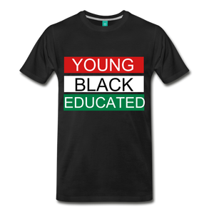 YOUNG, BLACK, EDUCATED TEE. - black
