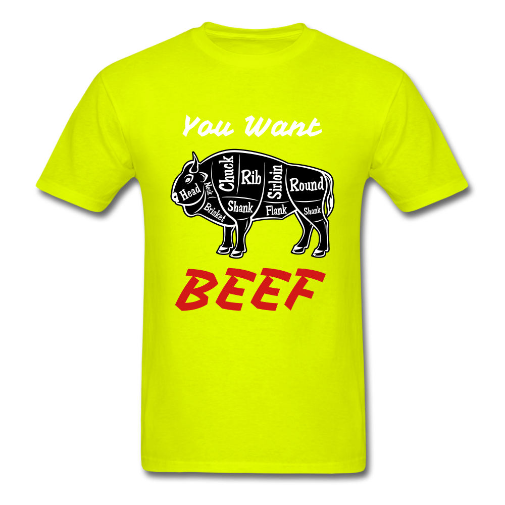 Beef Tee - safety green
