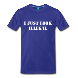 LOOK ILLEGAL TEE - royal blue