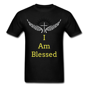 I Am Blessed Tee - black
