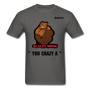 Crazy A Tee @ - charcoal