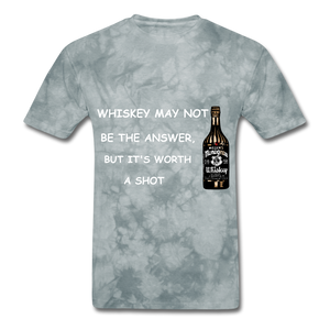 Whiskey Tee - grey tie dye