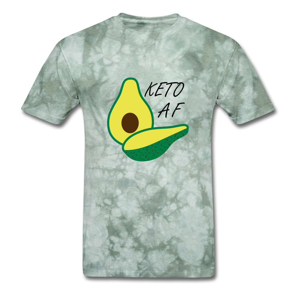 Keto Tee - military green tie dye