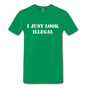 LOOK ILLEGAL TEE - kelly green