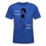 Thick Chicks Tee - mineral royal