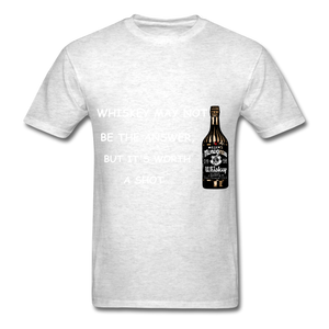 Whiskey Tee - light heather grey
