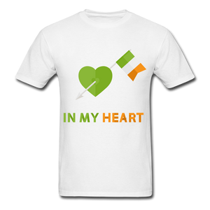 Irish Heart Tee - white