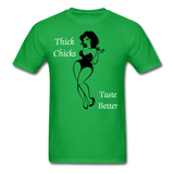 Thick Chicks Tee - bright green