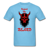 The Beard Tee - aquatic blue