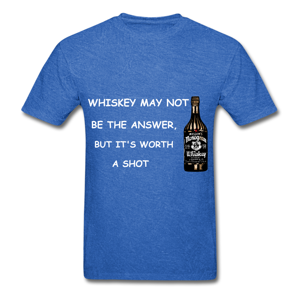 Whiskey Tee - mineral royal