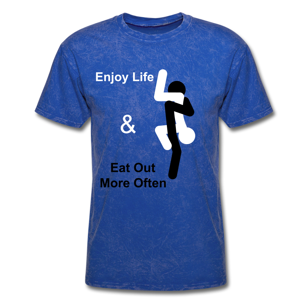 Eat Out Tee - mineral royal