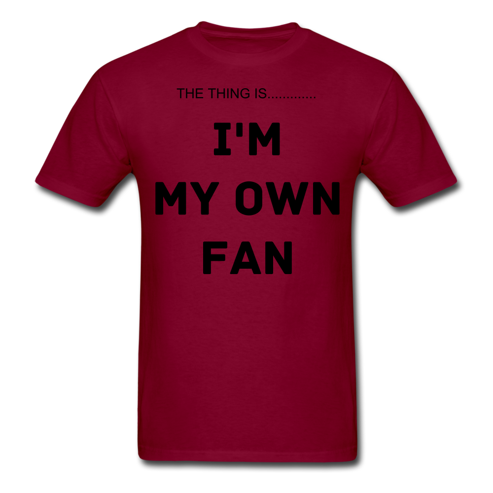 My Own Fan - burgundy