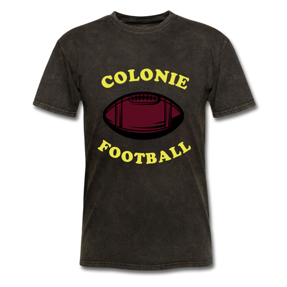 Colonie Football Tee - mineral black