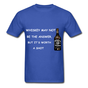 Whiskey Tee - royal blue