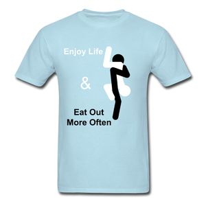 Eat Out Tee - powder blue