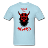 The Beard Tee - powder blue