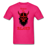 The Beard Tee - fuchsia