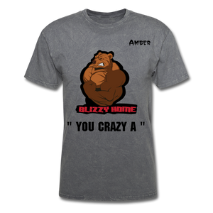 Crazy A Tee @ - mineral charcoal gray