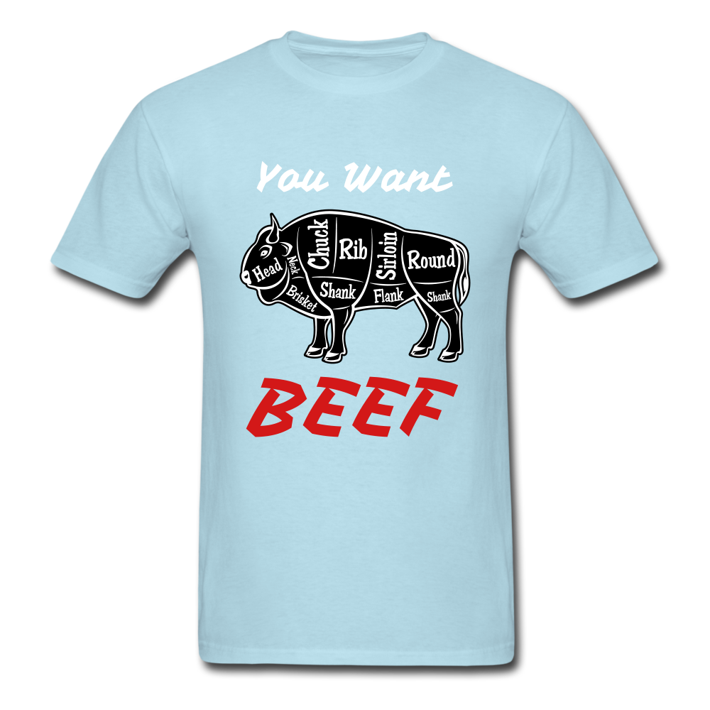 Beef Tee - powder blue