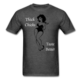 Thick Chicks Tee - heather black