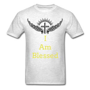 I Am Blessed Tee - light heather grey