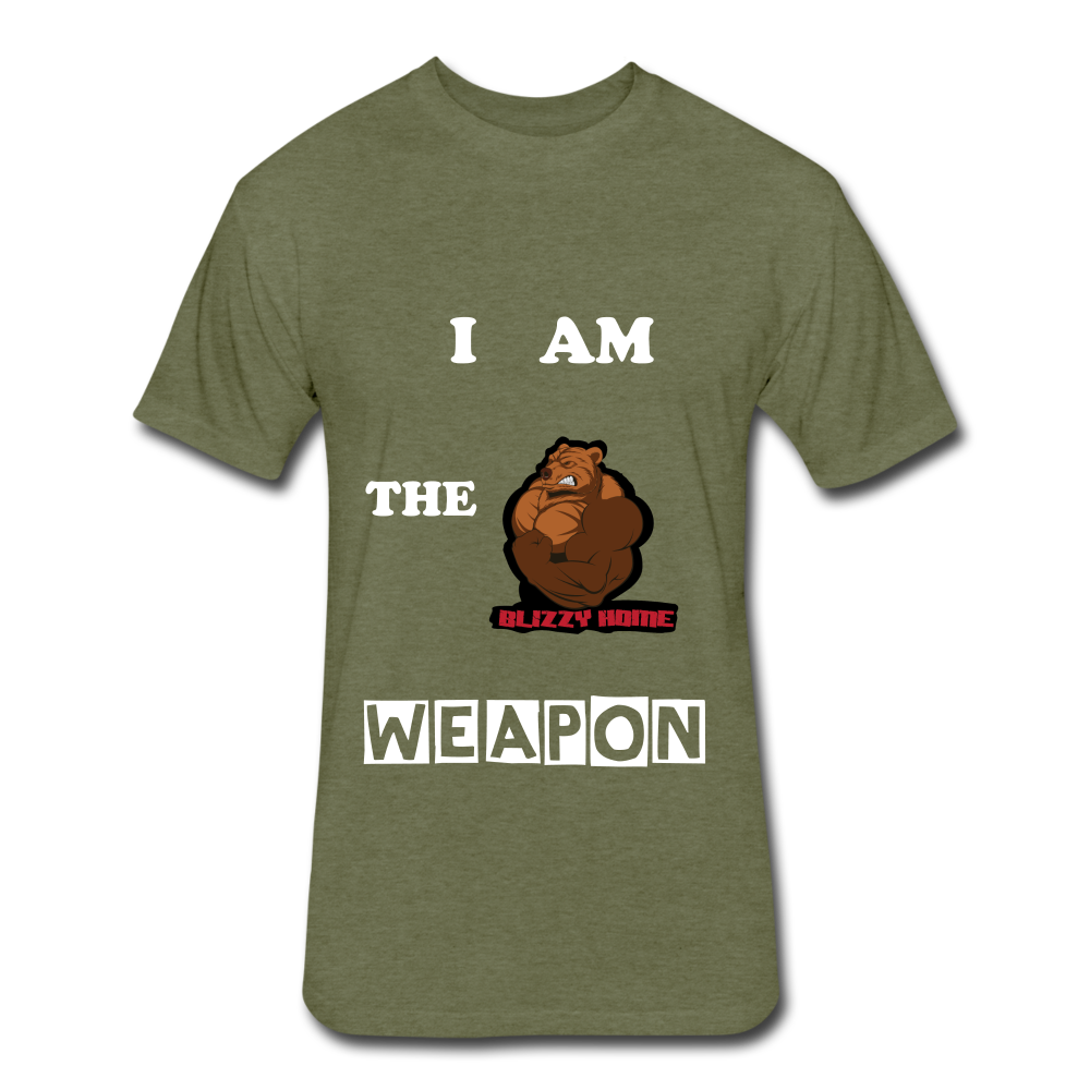 I am the weapon. - heather military green