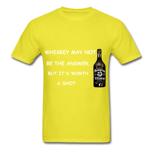 Whiskey Tee - yellow