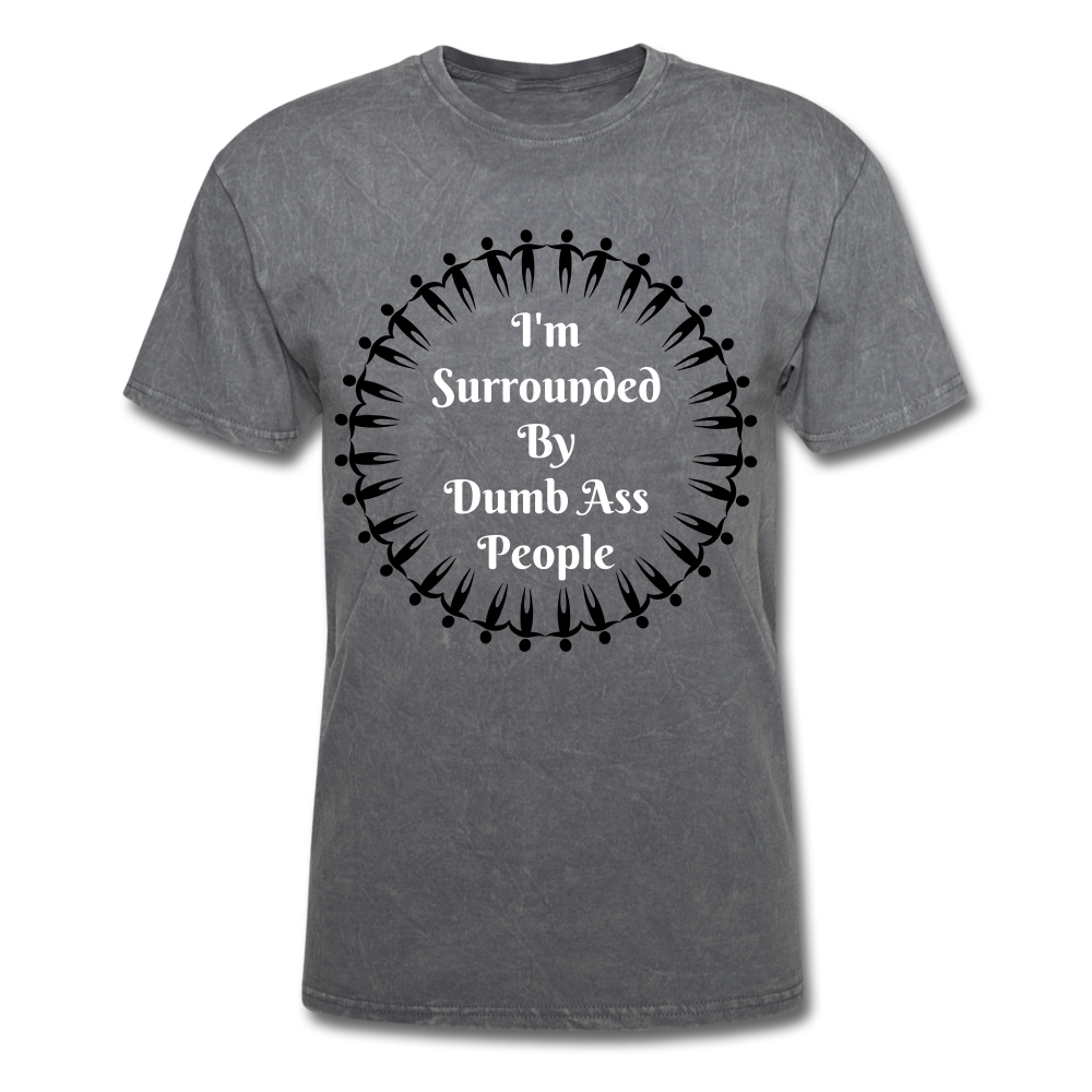 Dumb Ass Tee - mineral charcoal gray
