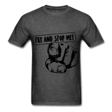 Stop Me Tee - heather black
