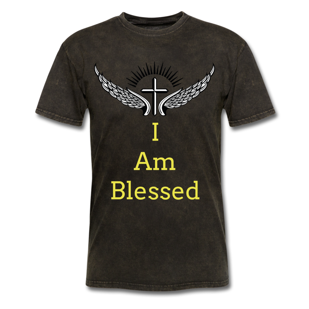I Am Blessed Tee - mineral black