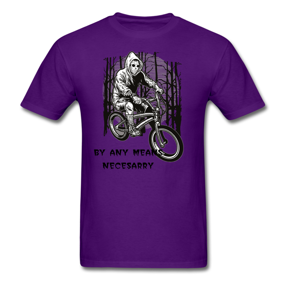 By Any Means Tee - purple