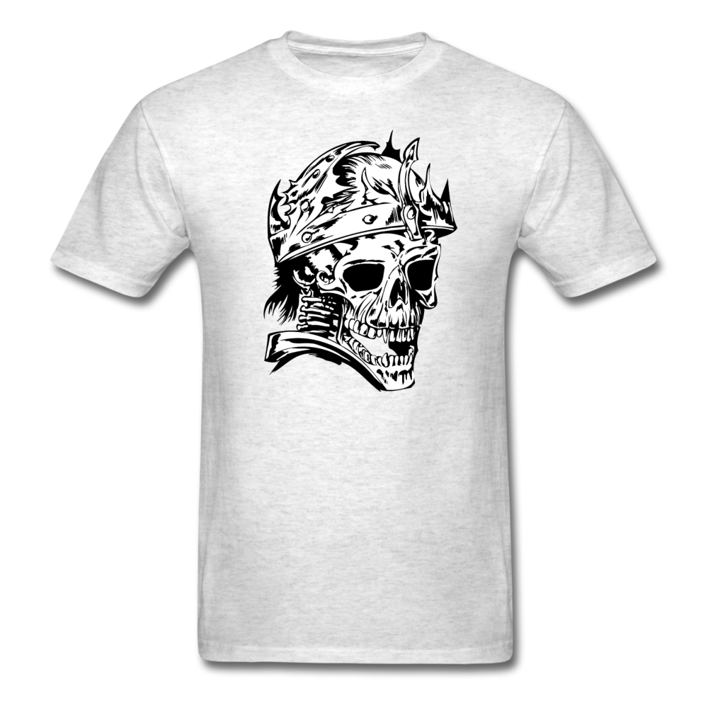 King Skull Tee - light heather grey