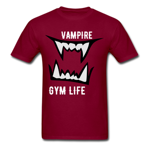 Vamp Gym Tee - burgundy