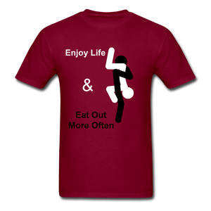 Eat Out Tee - burgundy
